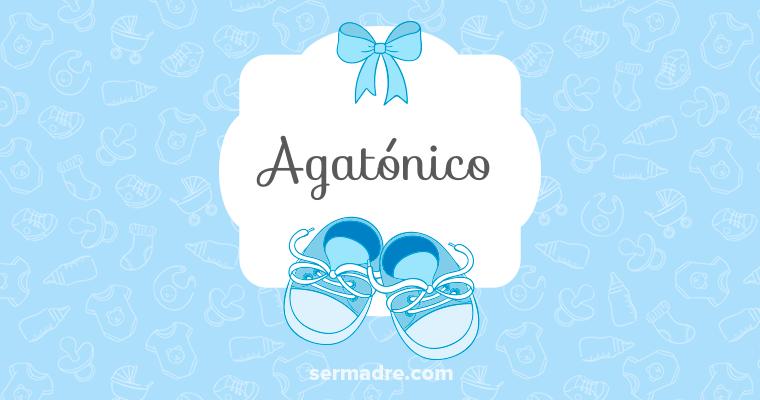 Imagen de nombre Agatónico