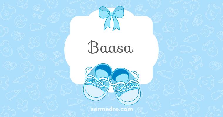 Imagen de nombre Baasa