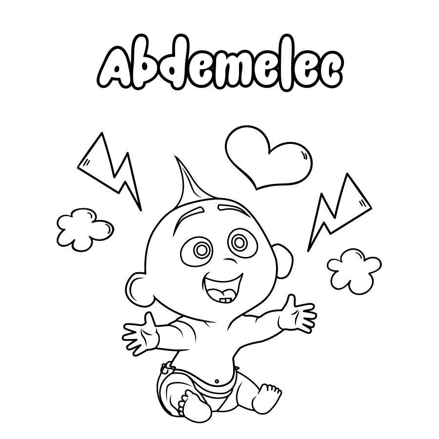 Dibujo de Abdemelec