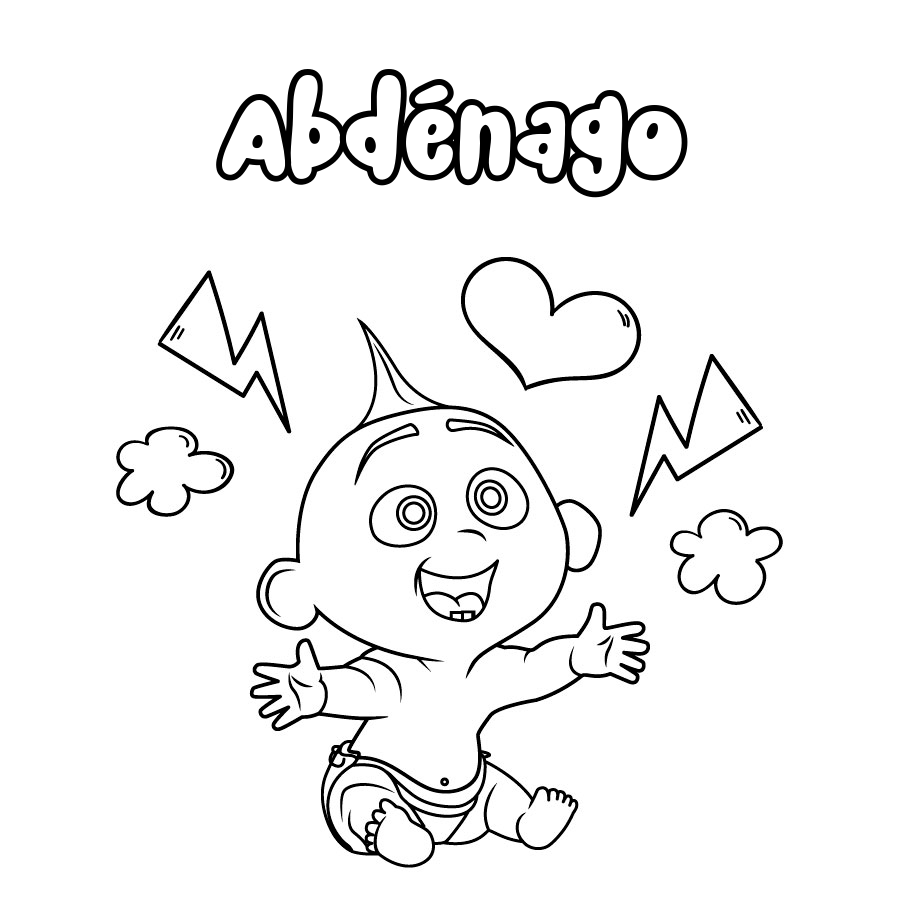Dibujo de Abdénago