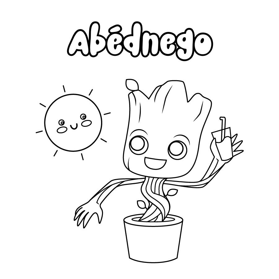 Dibujo de Abédnego