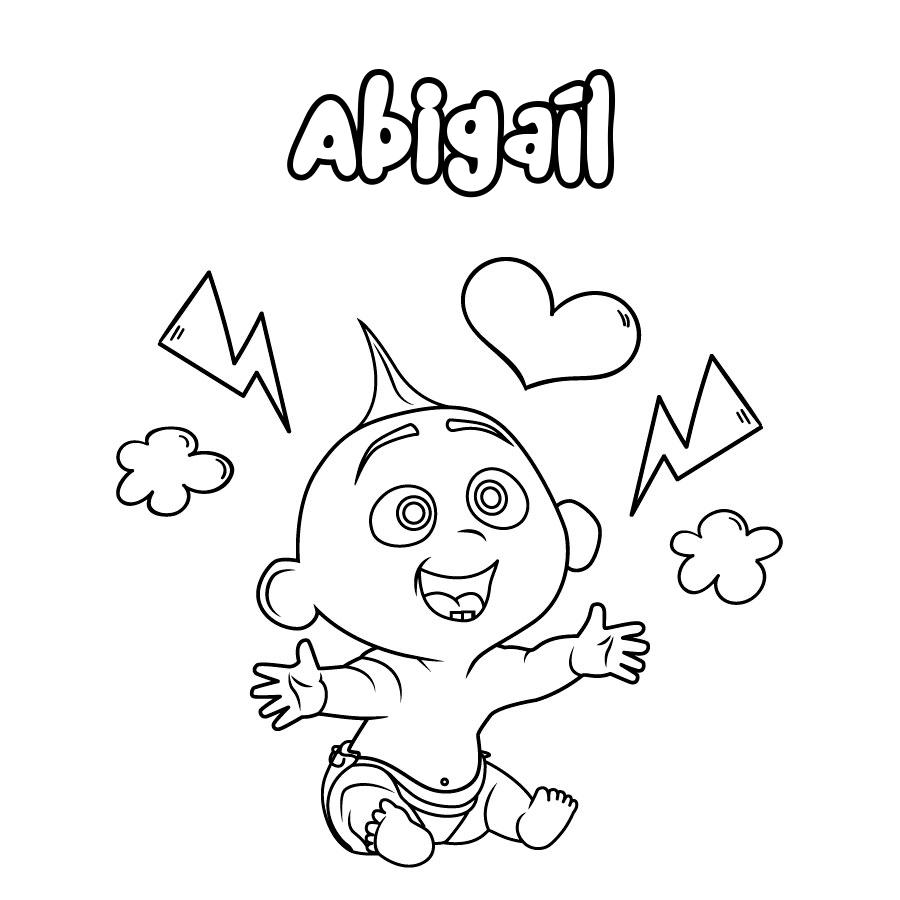 Dibujo de Abigaíl