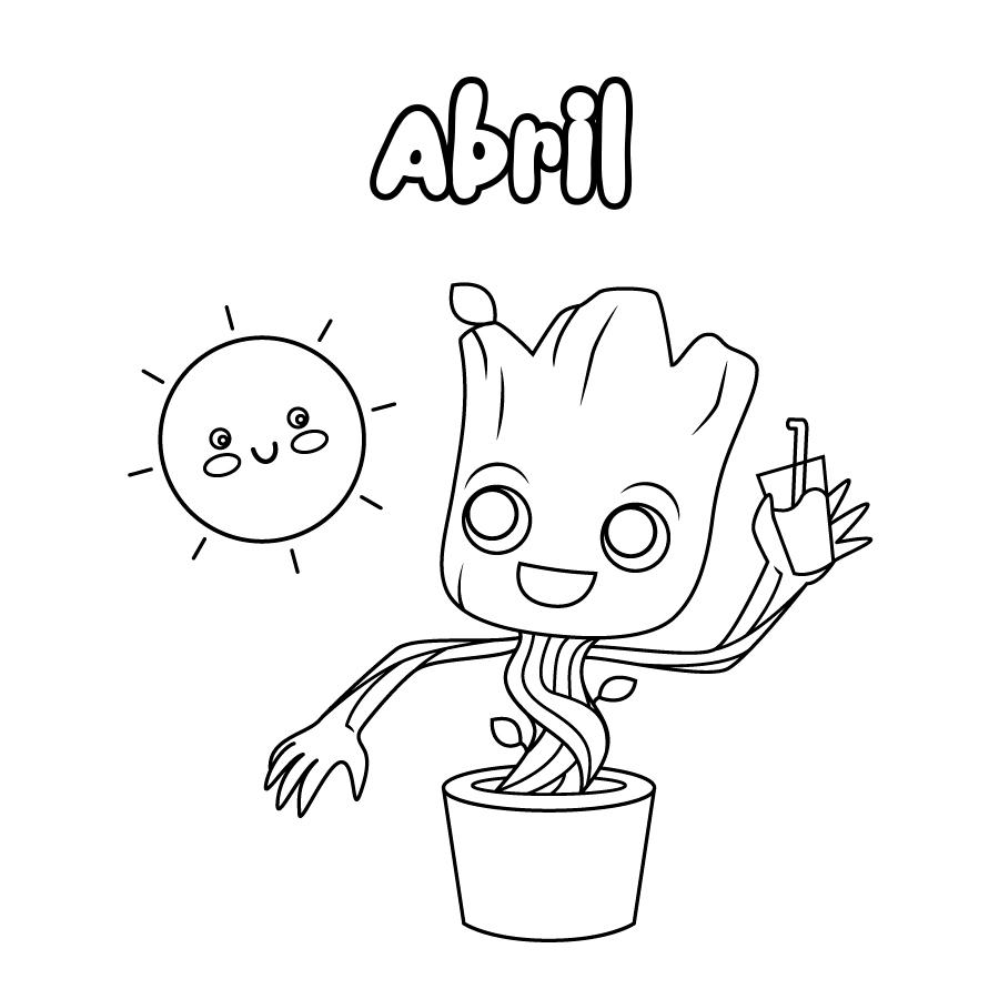 Dibujo de Abril