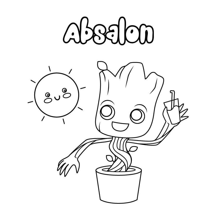 Dibujo de Absalon