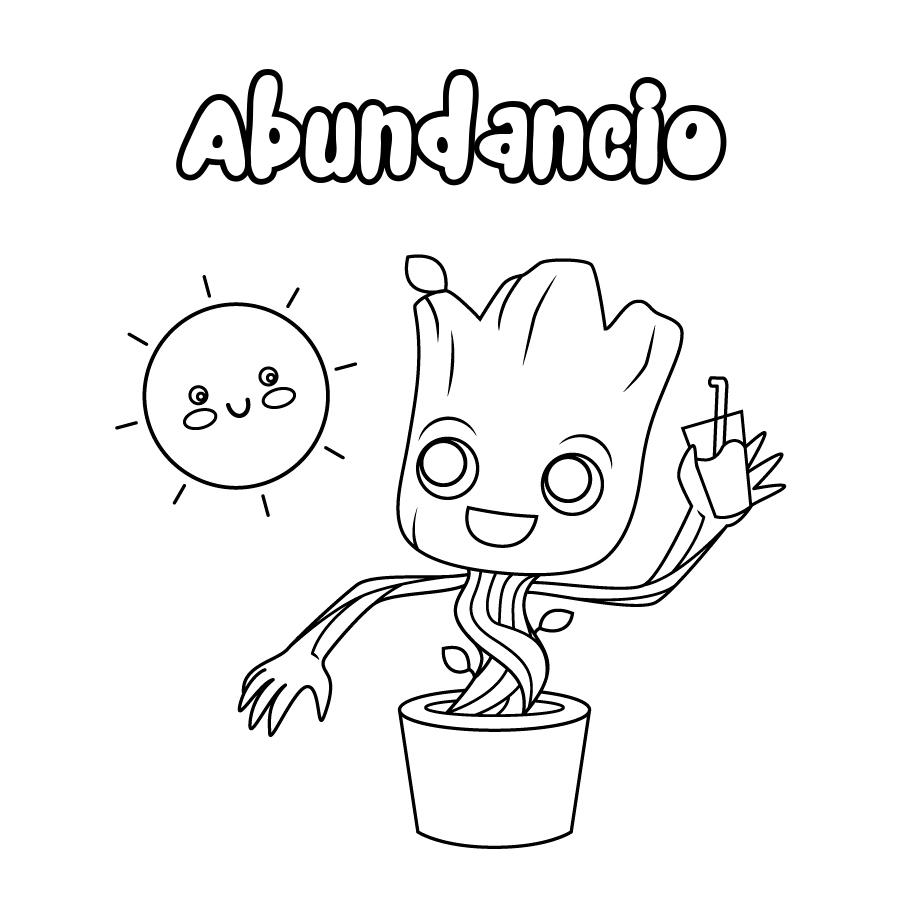 Dibujo de Abundancio