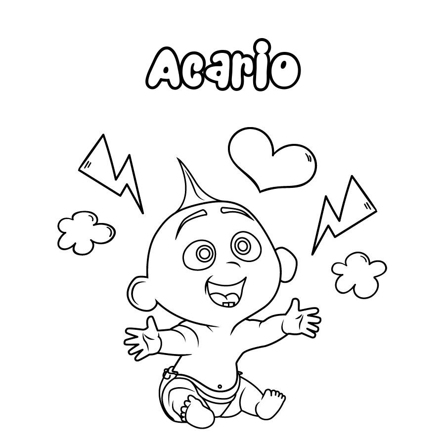 Dibujo de Acario