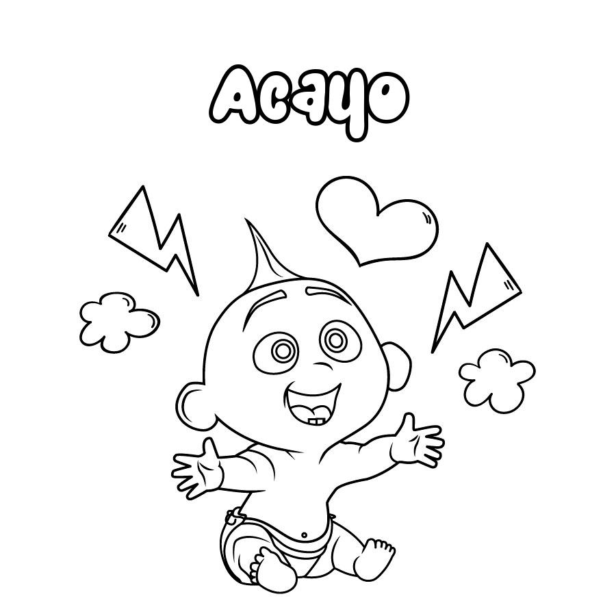 Dibujo de Acayo