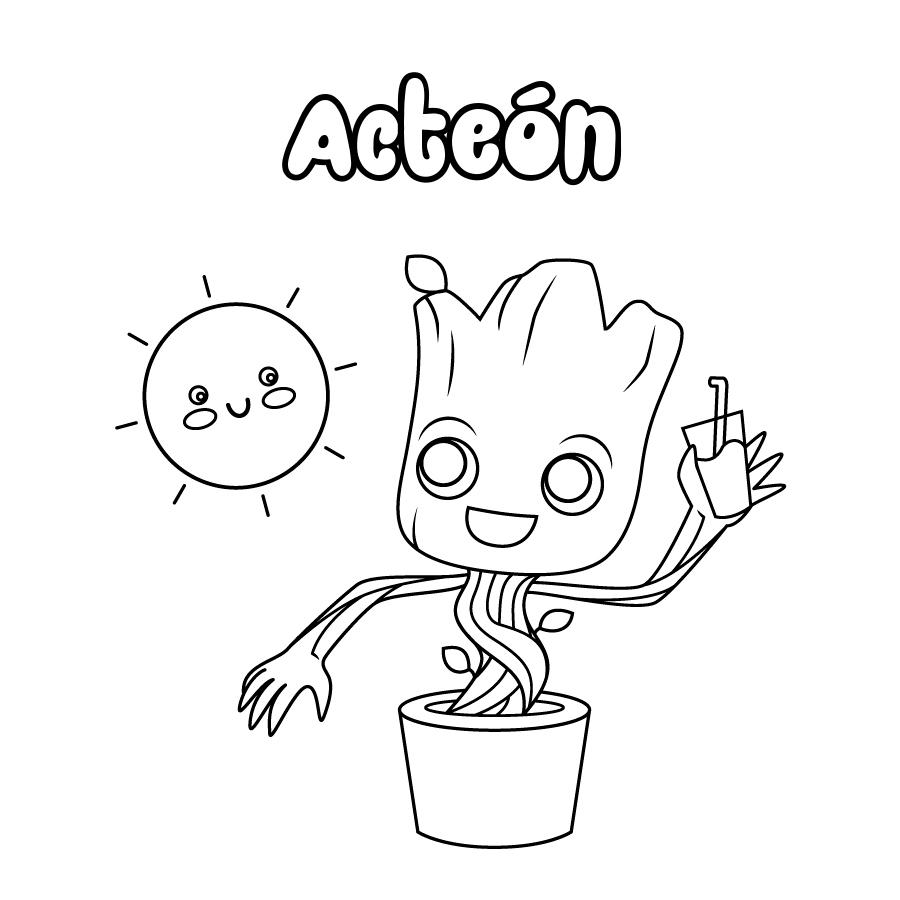 Dibujo de Acteón