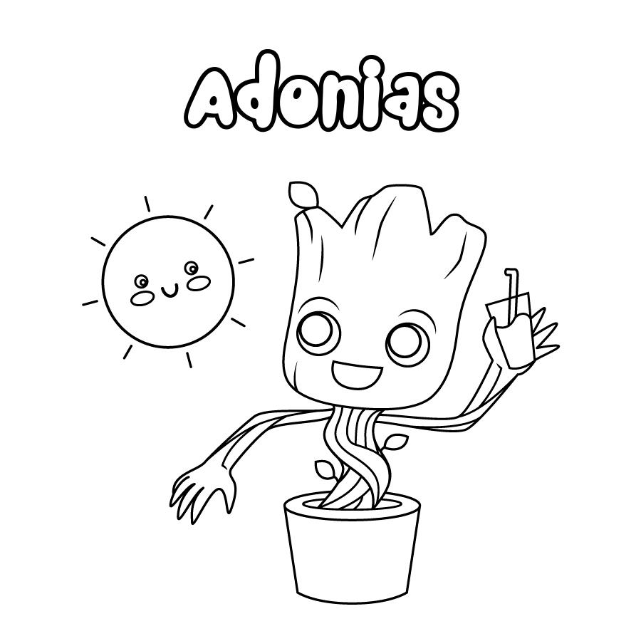 Dibujo de Adonias