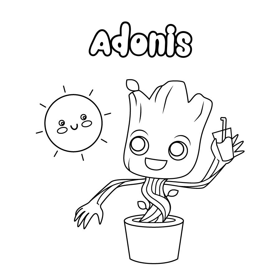 Dibujo de Adonis