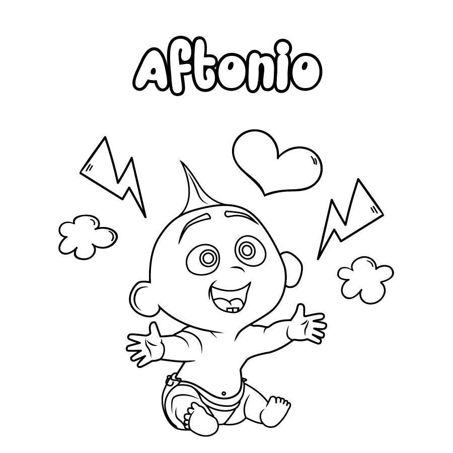 Dibujo de Aftonio