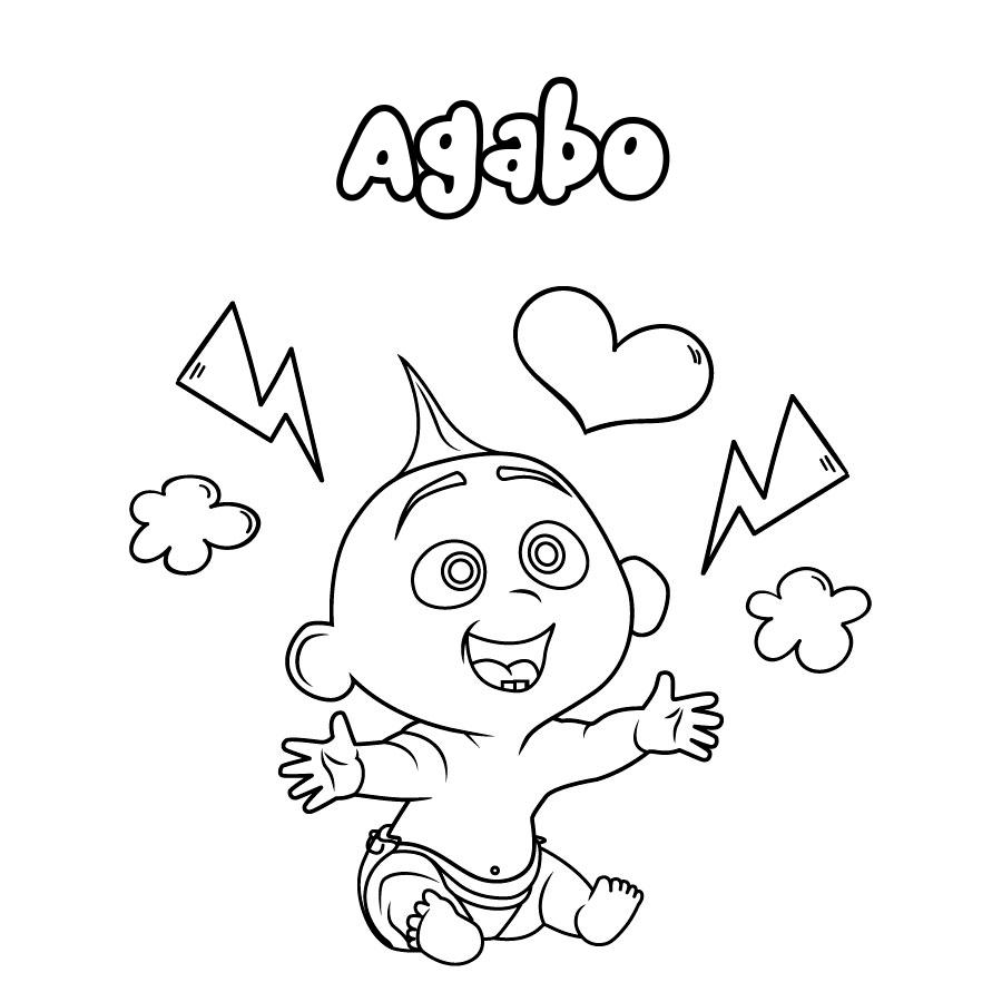 Dibujo de Agabo