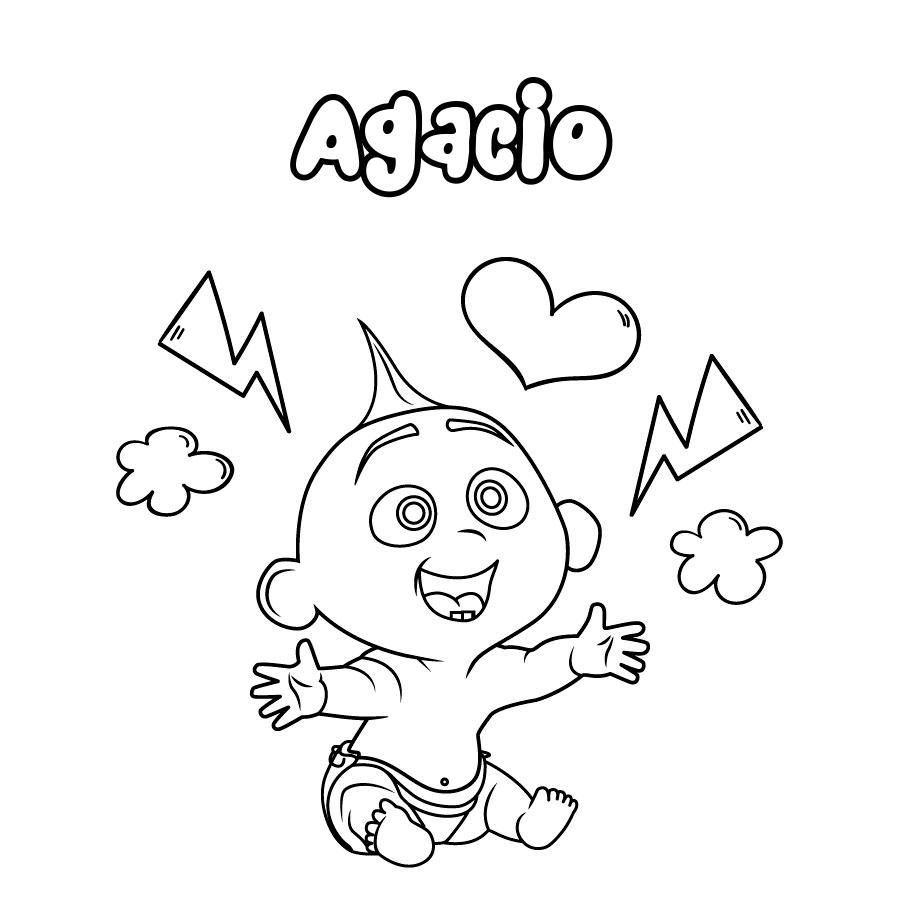 Dibujo de Agacio