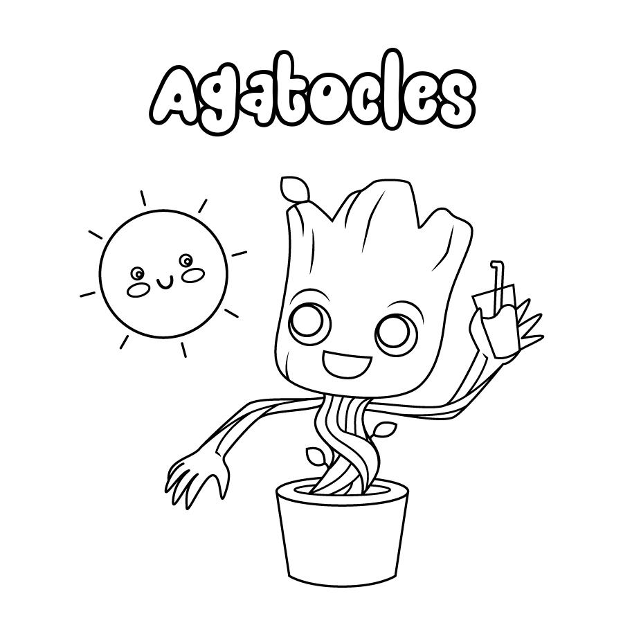 Dibujo de Agatocles