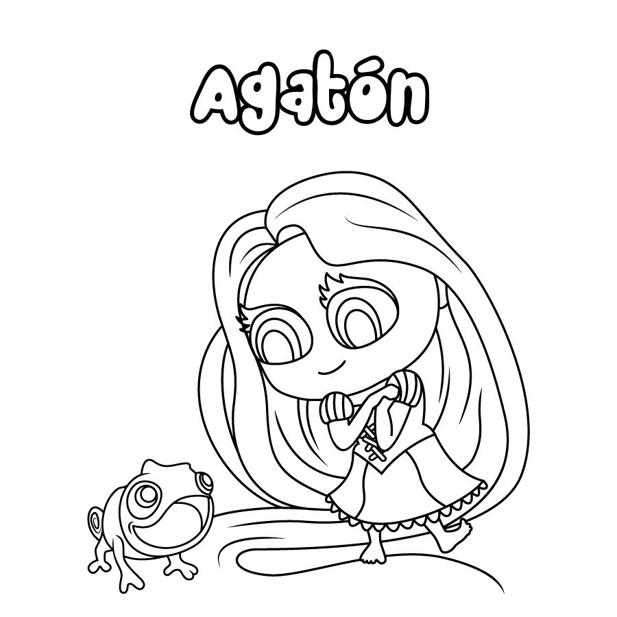 Dibujo de Agatón