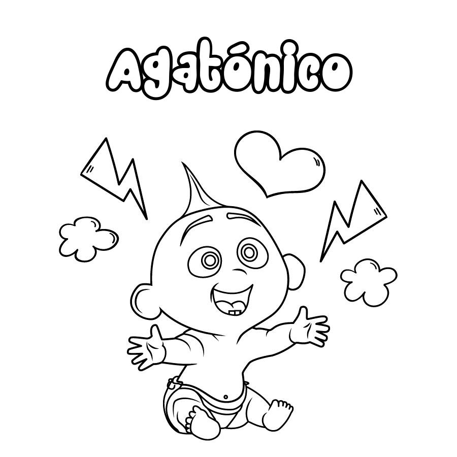 Dibujo de Agatónico
