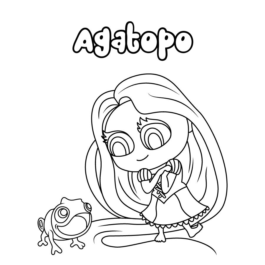 Dibujo de Agatopo