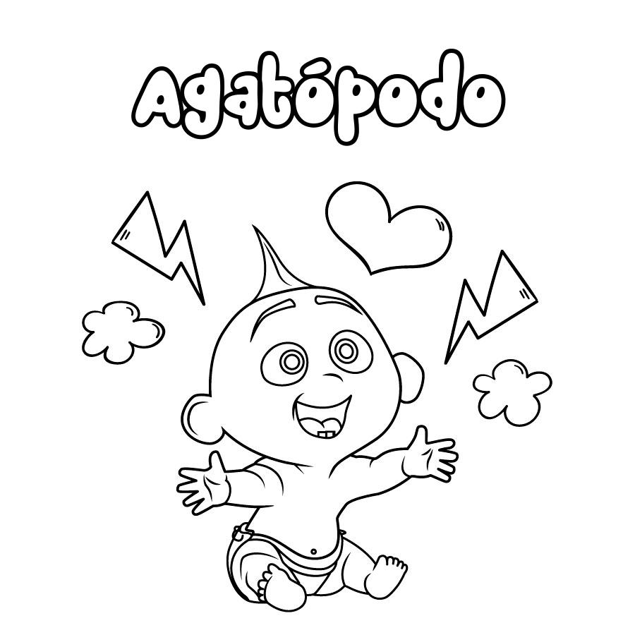 Dibujo de Agatópodo