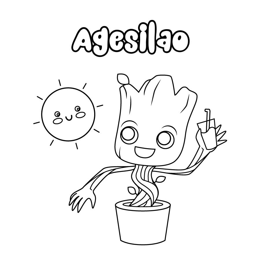 Dibujo de Agesilao