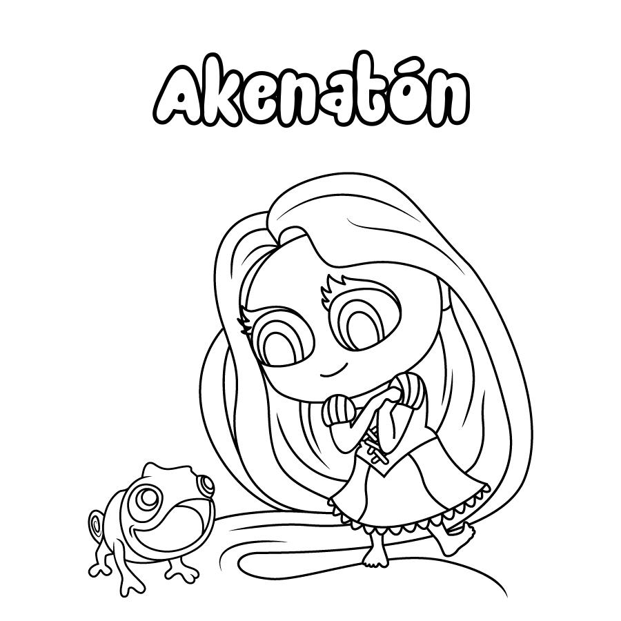 Dibujo de Akenatón