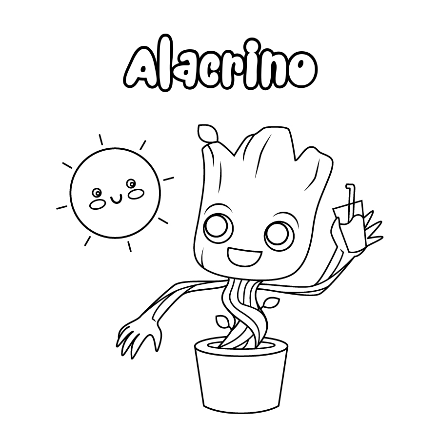 Dibujo de Alacrino