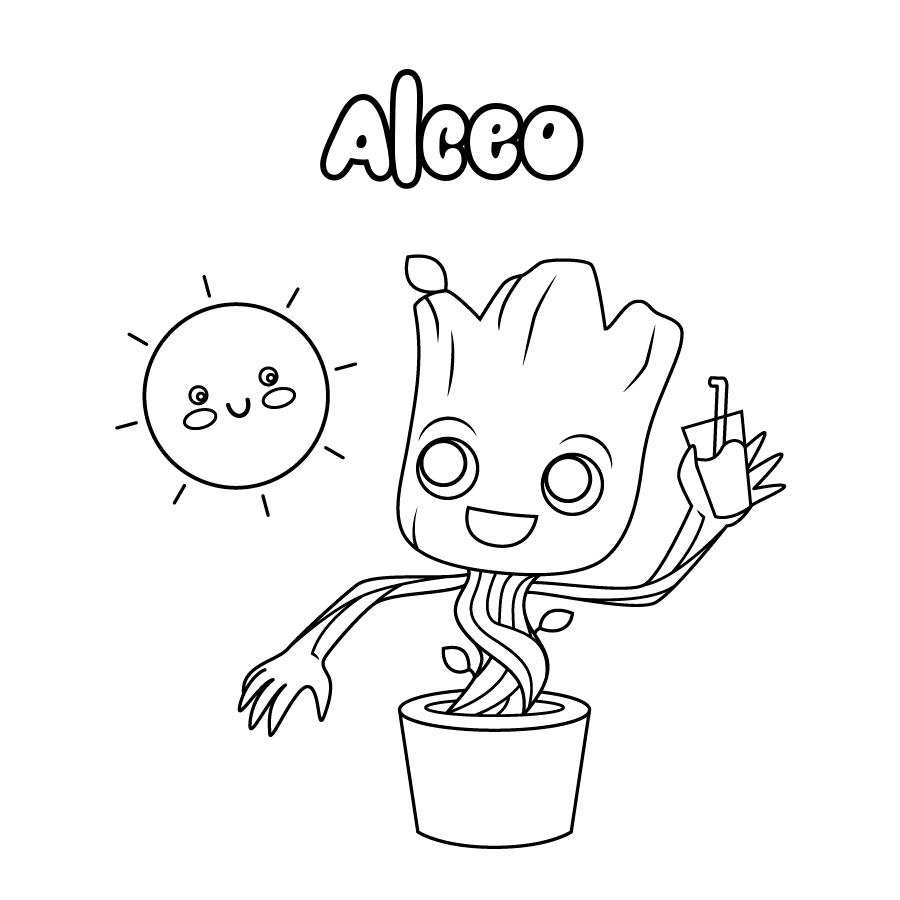 Dibujo de Alceo