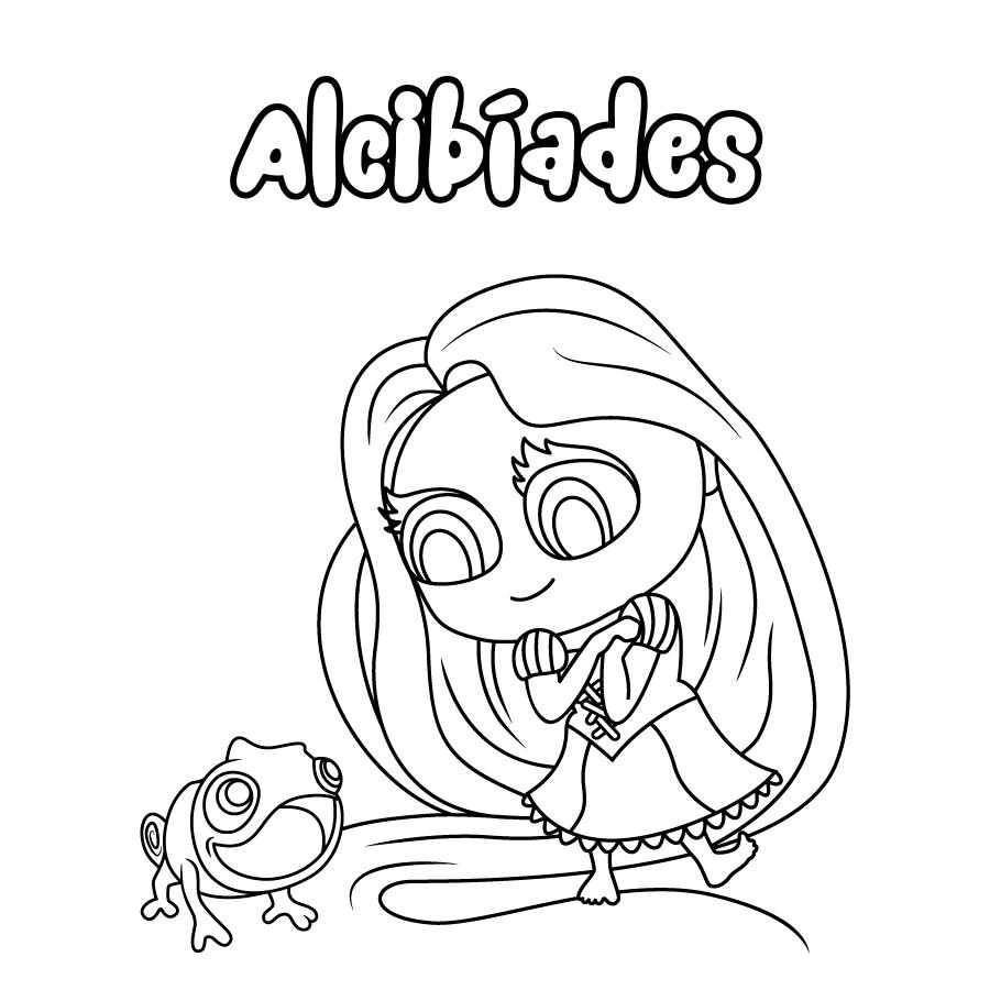 Dibujo de Alcibíades