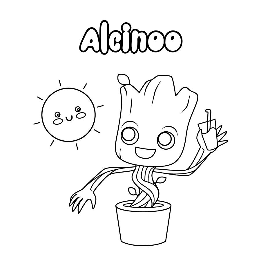 Dibujo de Alcinoo