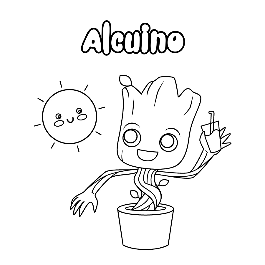 Dibujo de Alcuino