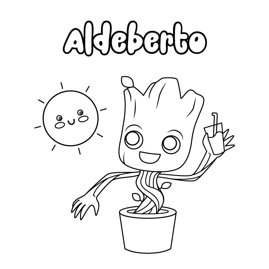 Dibujo de Aldeberto