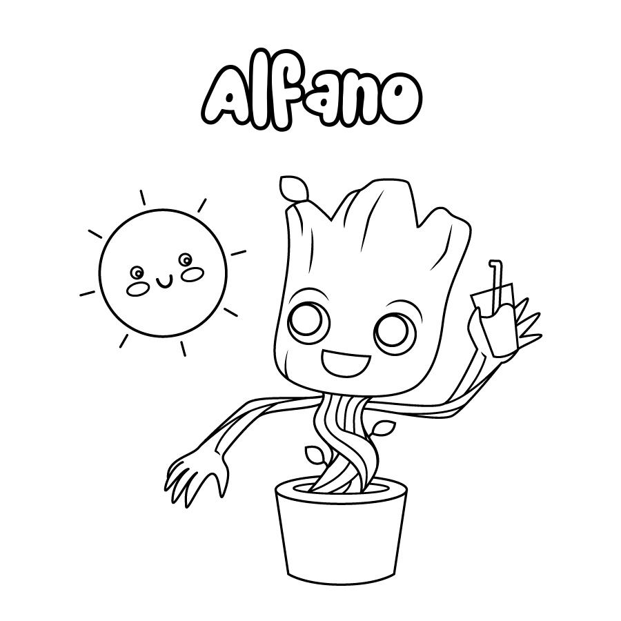 Dibujo de Alfano