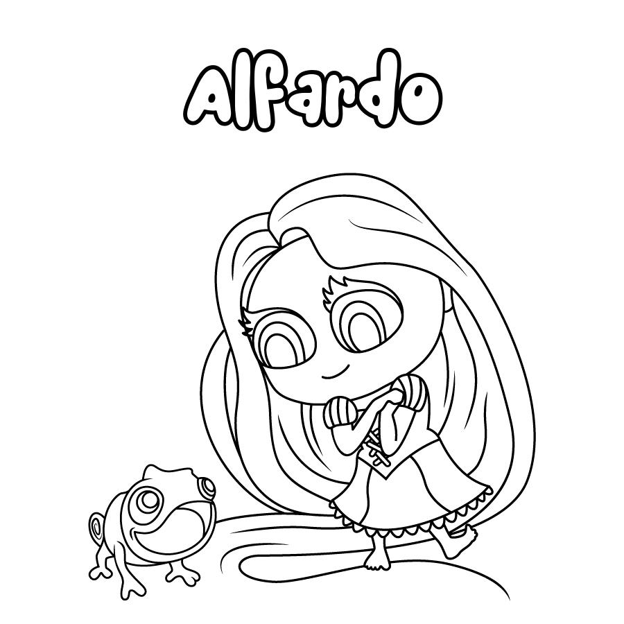 Dibujo de Alfardo