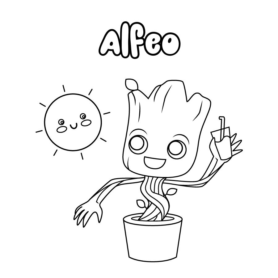 Dibujo de Alfeo