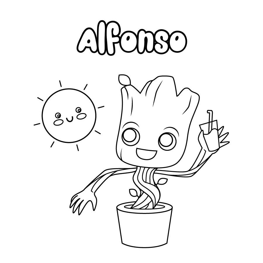 Dibujo de Alfonso