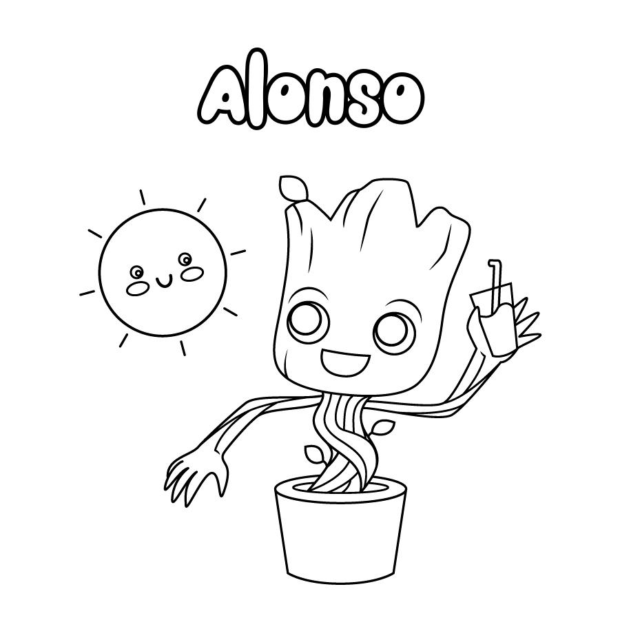 Dibujo de Alonso