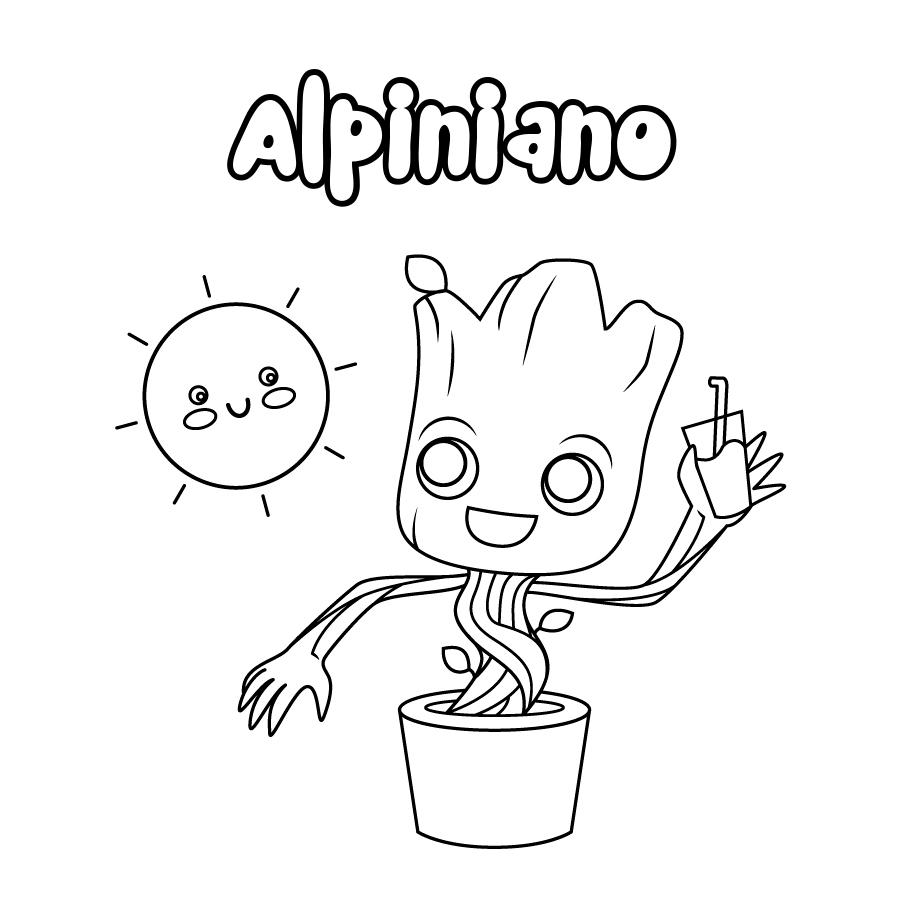Dibujo de Alpiniano