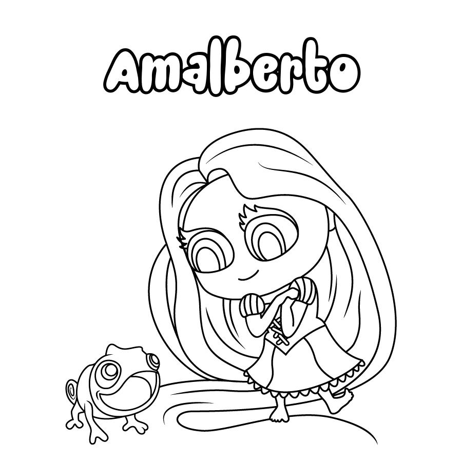 Dibujo de Amalberto