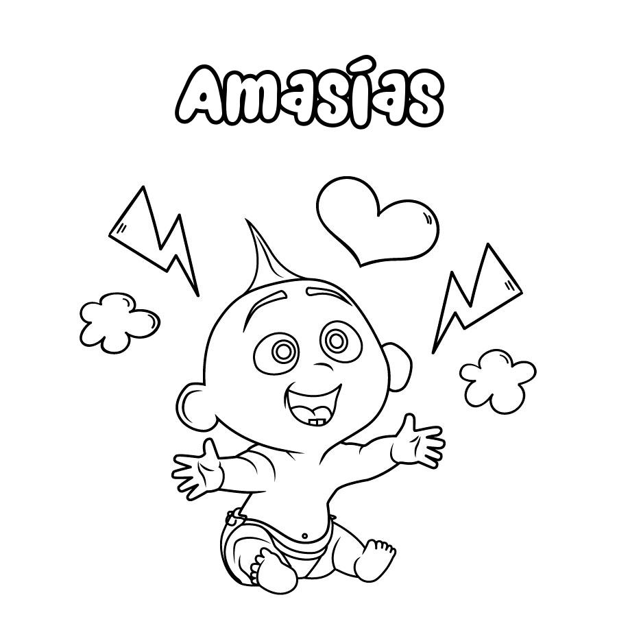 Dibujo de Amasías