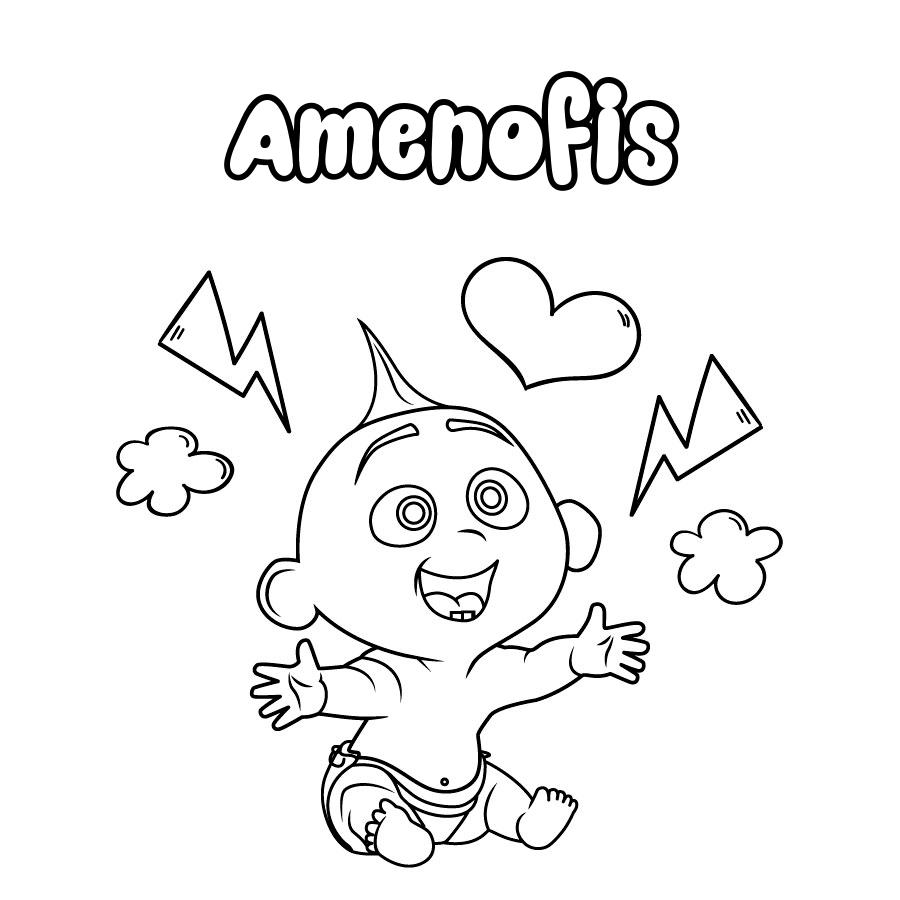 Dibujo de Amenofis