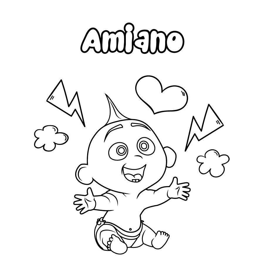 Dibujo de Amiano