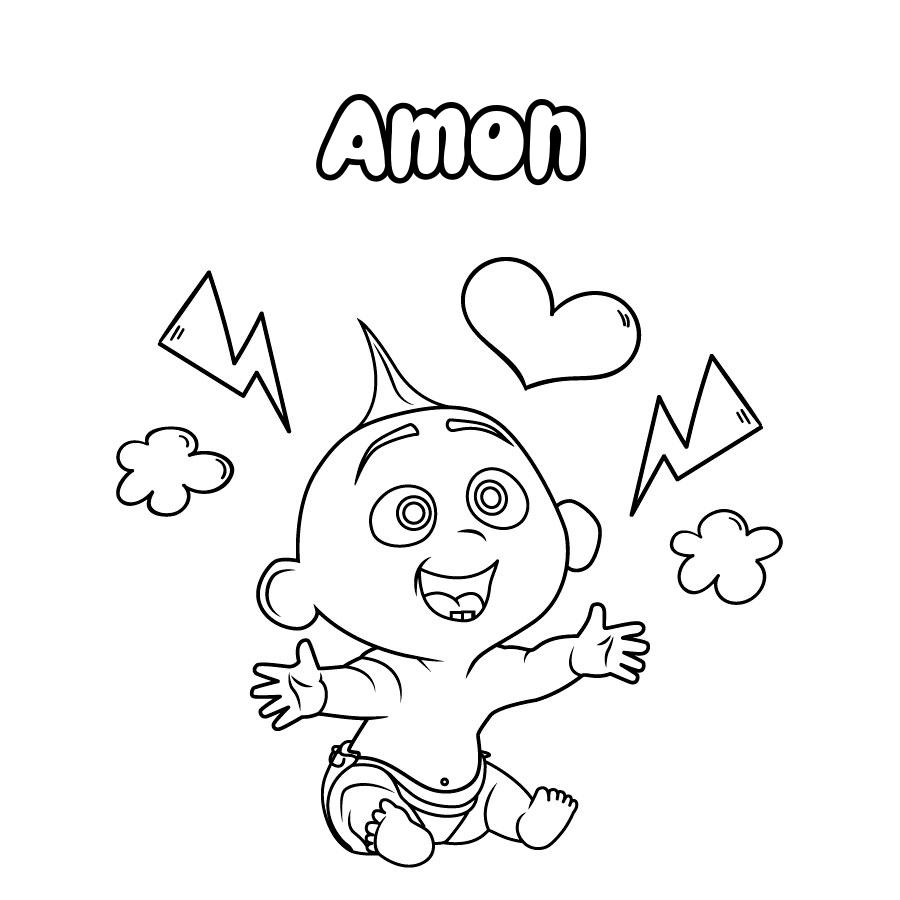 Dibujo de Amon