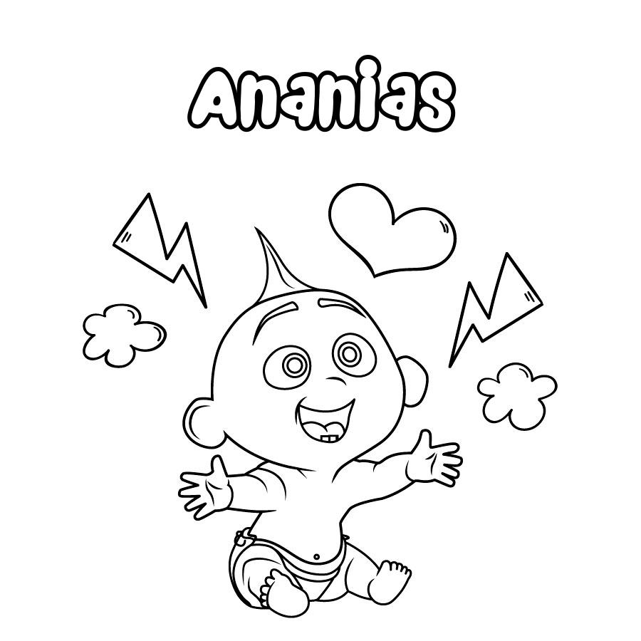 Dibujo de Ananias