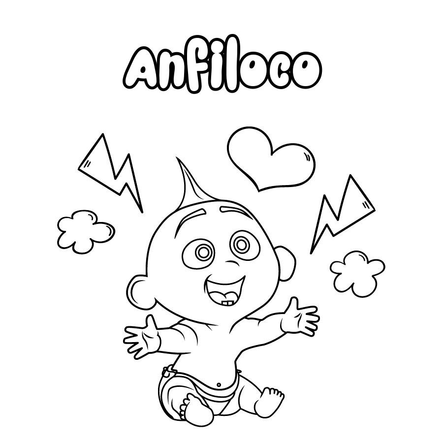Dibujo de Anfiloco