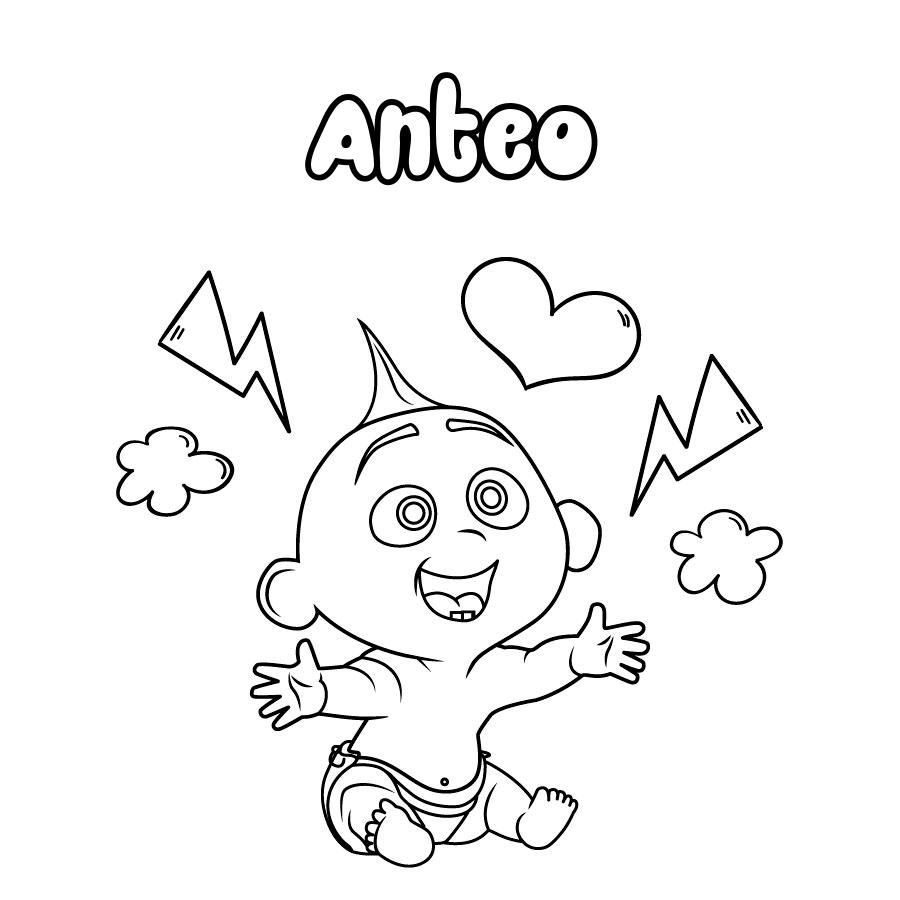 Dibujo de Anteo