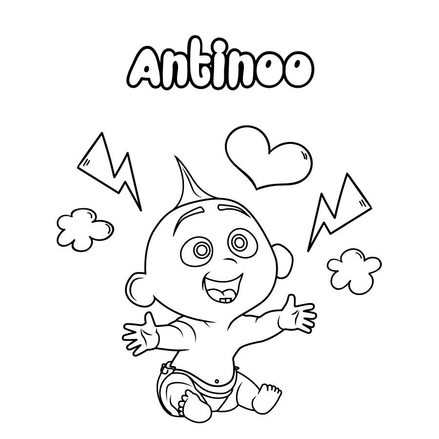 Dibujo de Antinoo