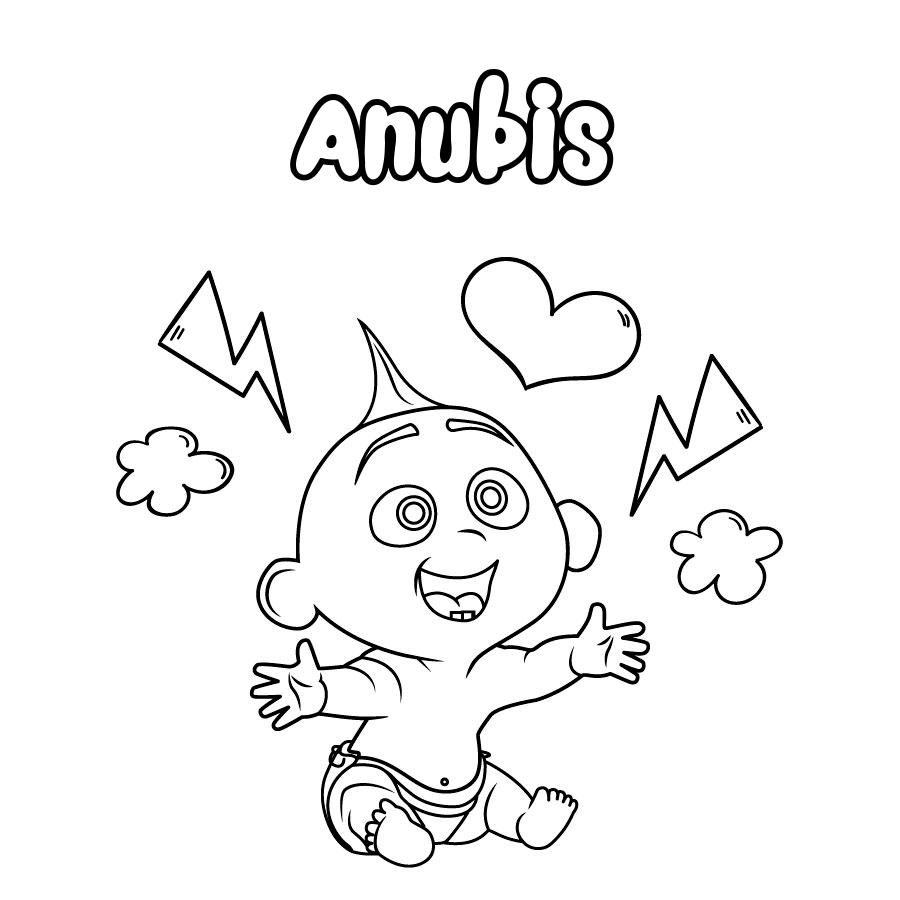 Dibujo de Anubis