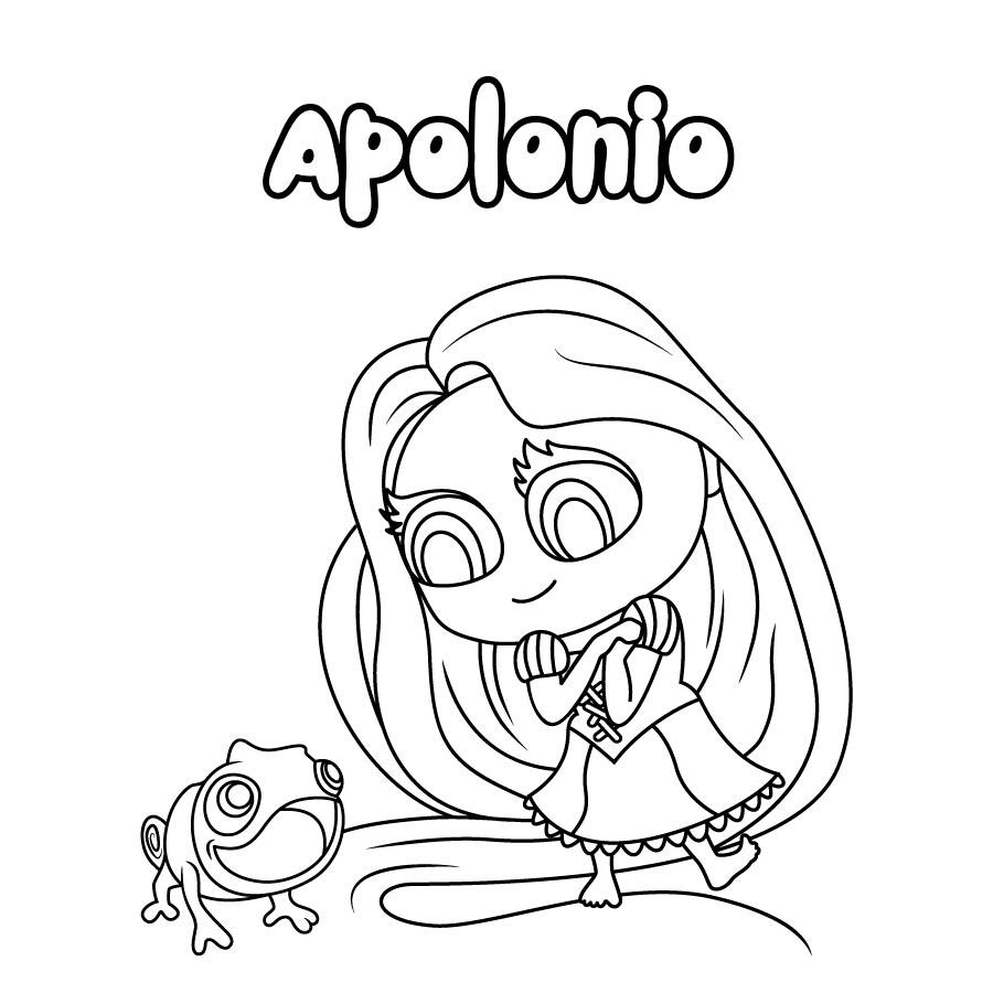 Dibujo de Apolonio
