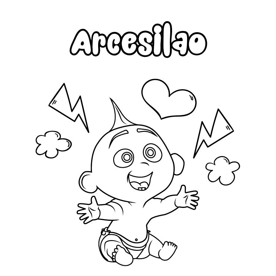 Dibujo de Arcesilao