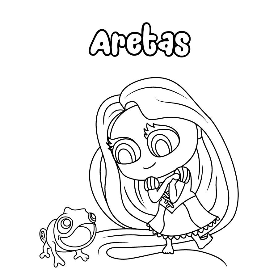 Dibujo de Aretas