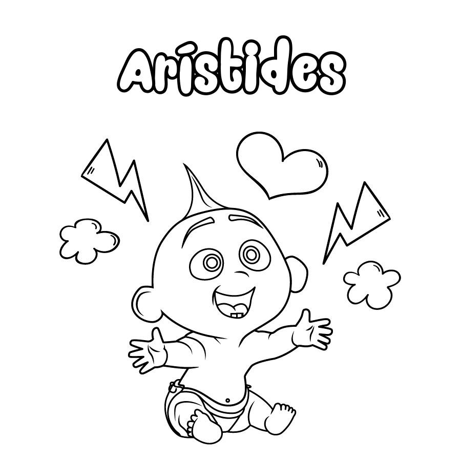 Dibujo de Arístides